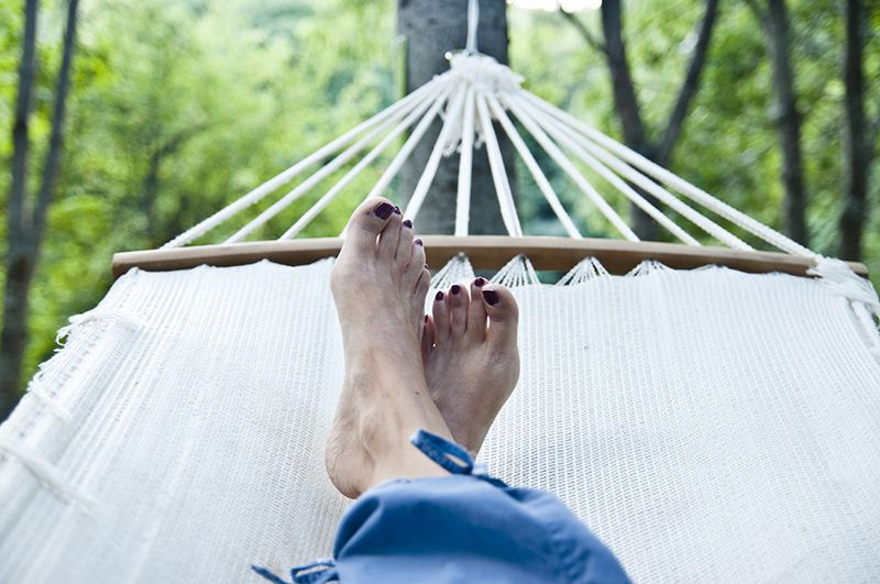 relaxation on the hammock